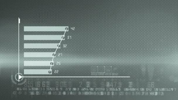 Obchodní sestava grafu ekonomiky