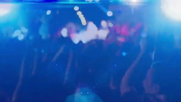 Crowd dancing at concert