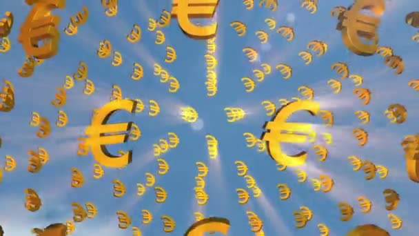 euro signs moving in sky