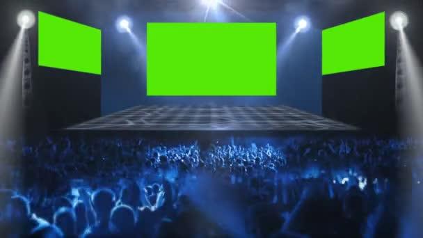 Konzertbühne mit Menschenmenge