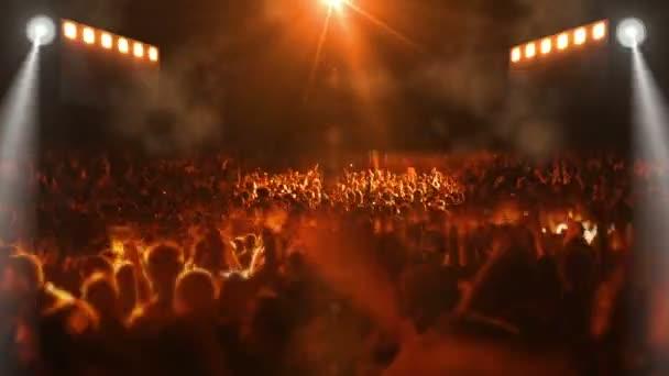 koncert színpad tömegével emberek
