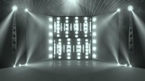 koncertní jeviště s zadní světla