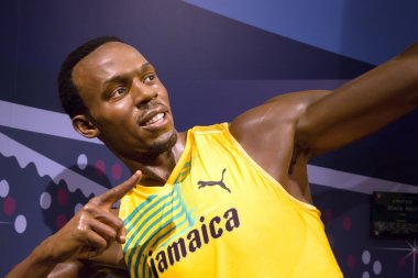 Usain Bolt in Madame Tussauds of London