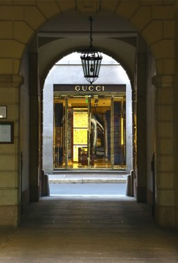 Gucci boutique in via Monte Napoleone, Milan