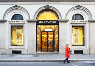 Louis Vuiton boutique in via Monte Napoleone, Milan