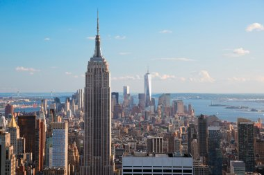 View of Empire State Building & Manhattan