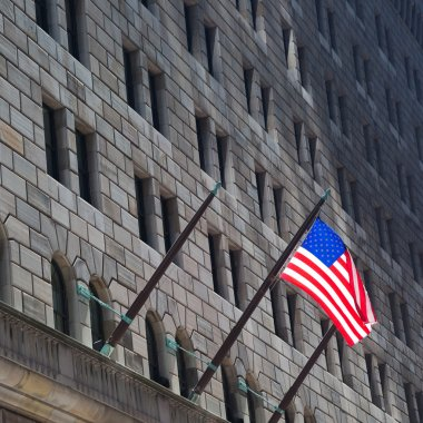 Federal Reserve building & American Flag