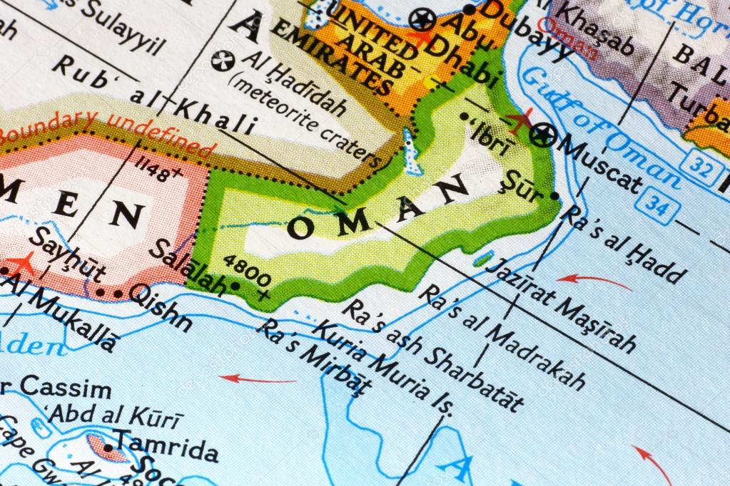 Oman Map Close Up Stock Photo Toucanet - Oman map download