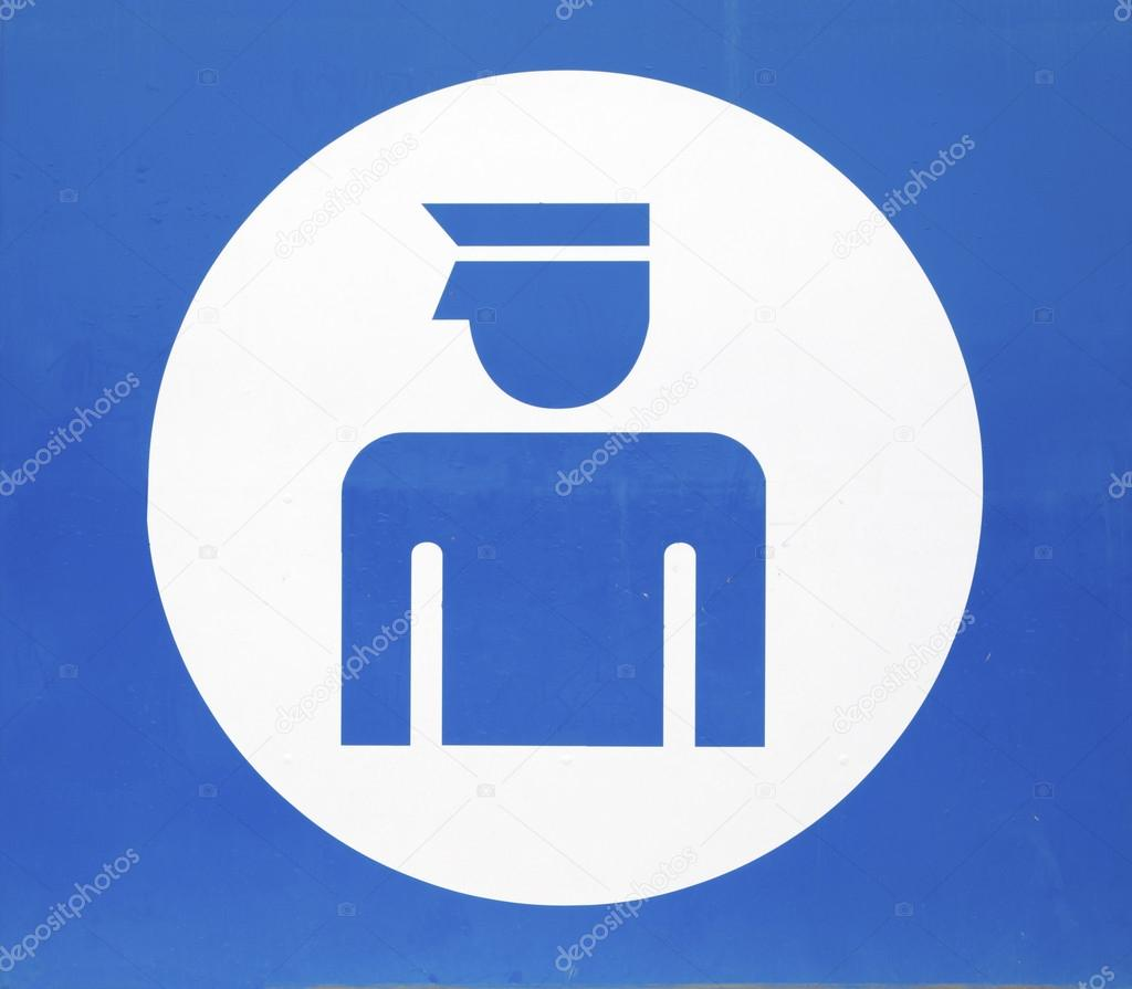 Blue Sign Indicating Police Station Stock Photo Toucanet 77196345