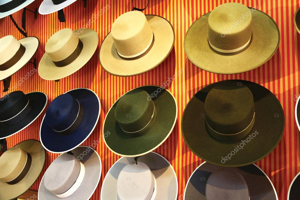 Traditional spanish hats for sale — Stock Photo © toucanet  77232030 6d495205c74