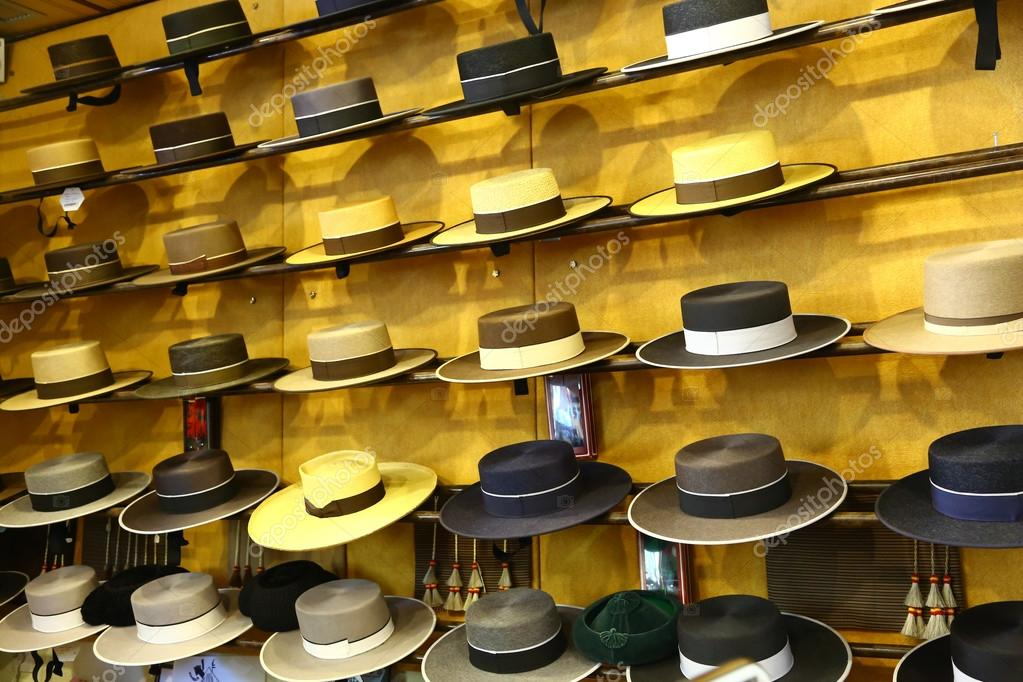 Traditional spanish hats for sale — Stock Photo © toucanet  77232080 46b93f56d0a