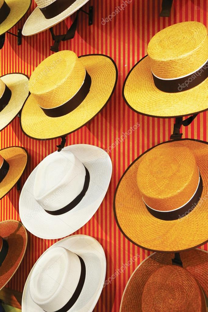 Traditional spanish hats for sale — Stock Photo © toucanet  77232148 73e82ee5315