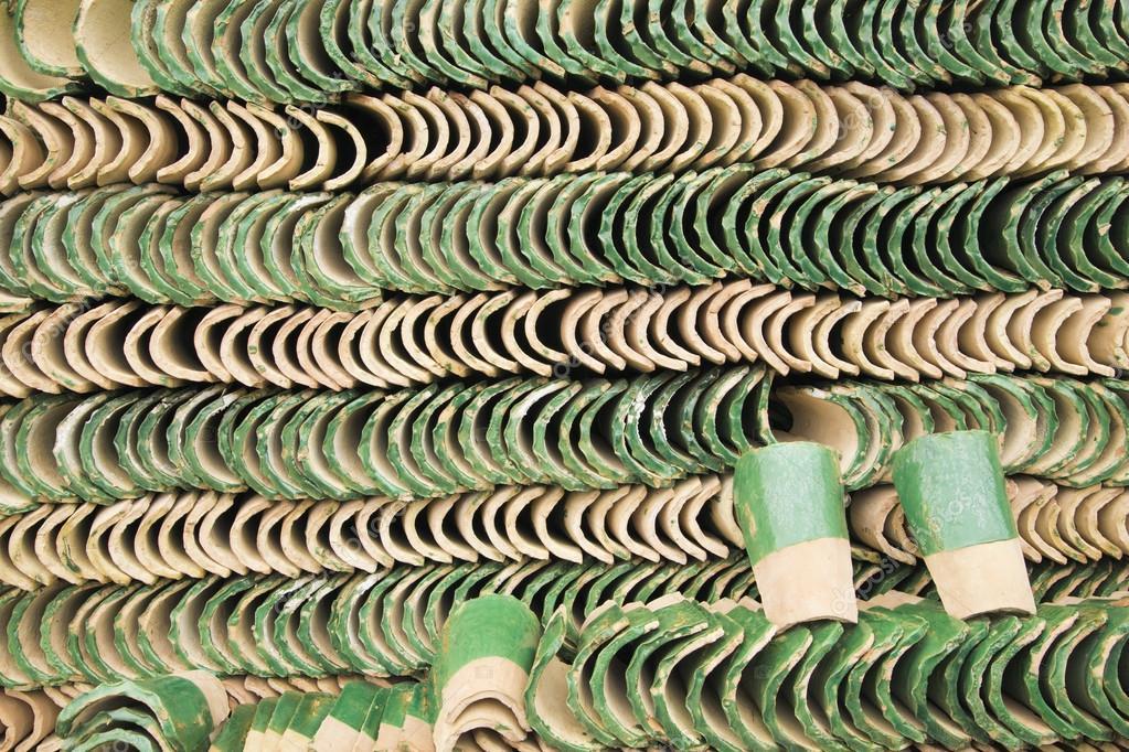 Righe di piastrelle verde in marocco u2014 foto stock © toucanet #77289644