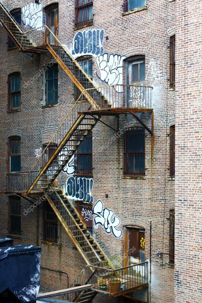 Metal Fire Stairs U2014 Stock Photo