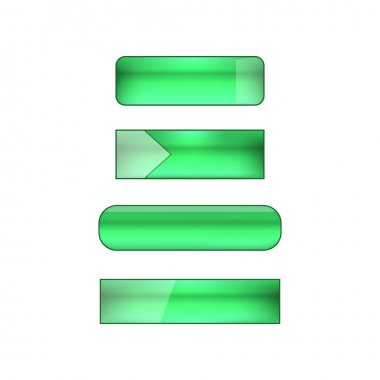vector web buttons set