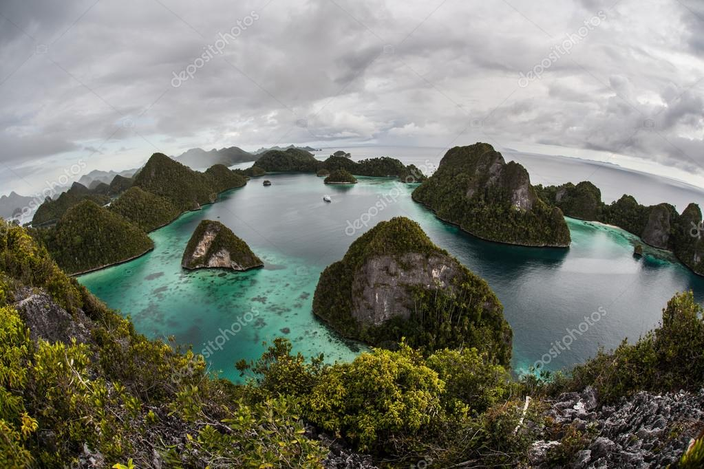 Remote Lagoon and Limestone Islands