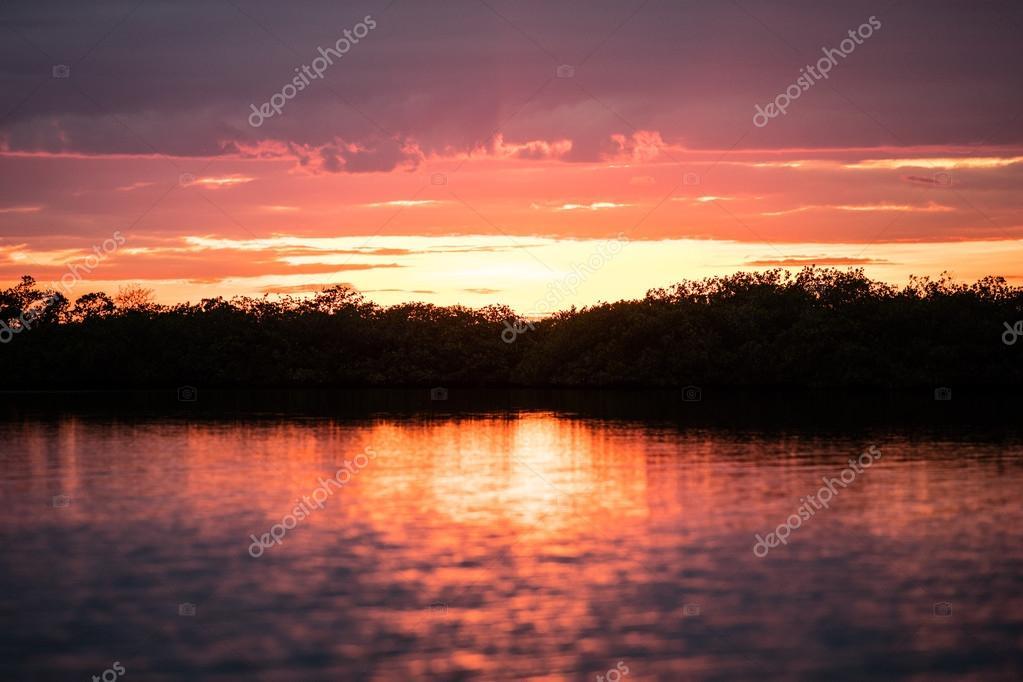 Sunset on Tropical Lagoon