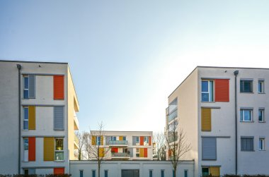 Modern housing in the city - urban residential building