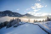Fotografie Blick auf eine Winterlandschaft mit Gebirge und Gasteinertal-Tal in der Nähe von Bad Gastein, Pongau Alpen - Salzburg-Österreich-Europa