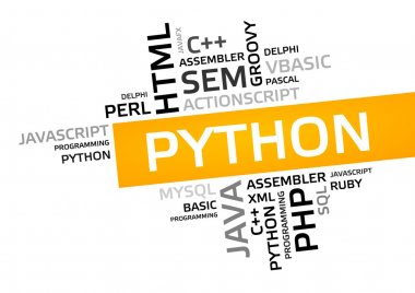 PYTHON word cloud, tag cloud, vector graphic
