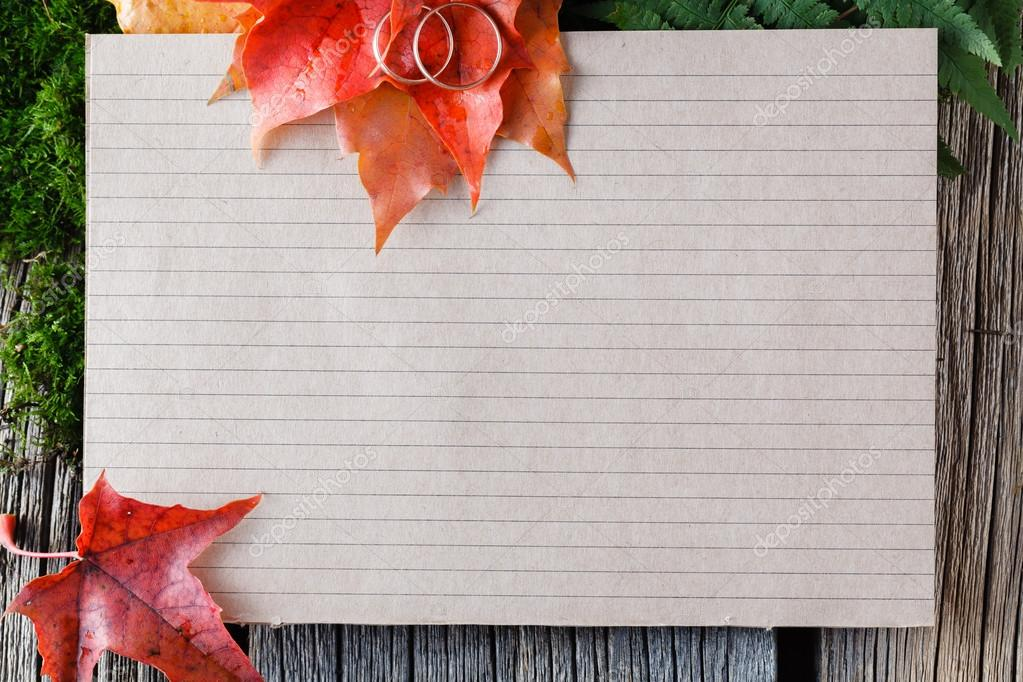 Hochzeit-Karte mit Platz für Text. Dekoration-Idee — Stockfoto ...