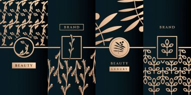 Beauty feminine logo design vector with pattern. Suit to be used for icon, brand, identity, spa, yoga, decoration, and business company icon