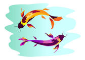 Photo Koi carp illustration