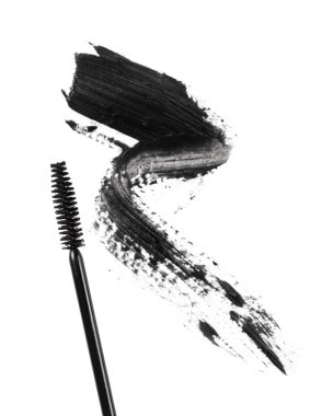 Black Mascara on a white background stock vector