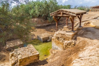 The site where Jeasus was baptized in river Jordan