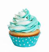 Photo Teal birthday cupcake