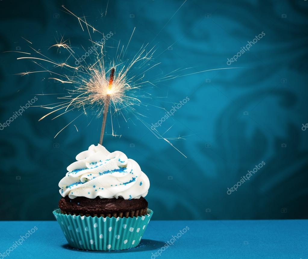 Bengala De Cumplea 241 Os Cupcake Foto De Stock