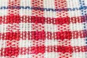 Straight red picnic cloth
