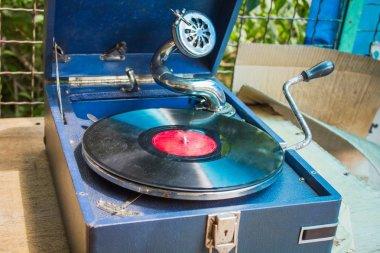 Old vintage gramophone