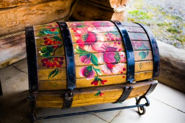 Beautifully painted decorative chest