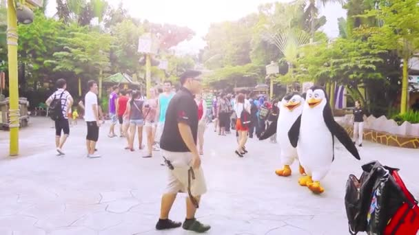 Penguins characters are at Universal Studios Singapore