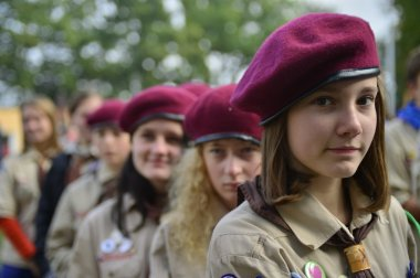 Czech scouts during finaly round of Svojsik race