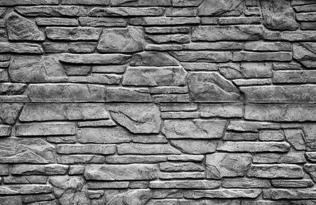 Stenen Muur Wit : Zwart wit stenen muur gedetailleerde contrast textuur achtergrond