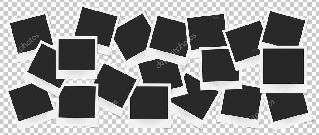 Collage de Marcos realista vector aislado. Diseño de plantilla foto ...