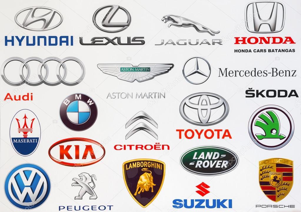 Kiev Ukraine September 3 2016 Collection Of Popular Car Logos