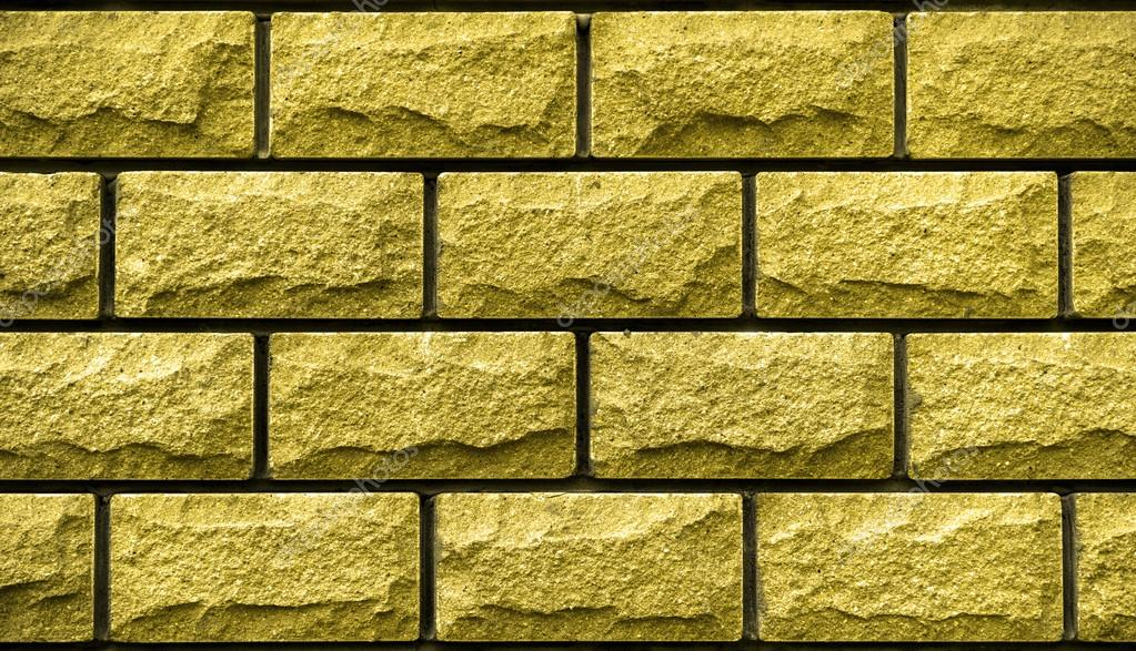 Texture of gold decorative tiles in form of brick — Stock Photo ...