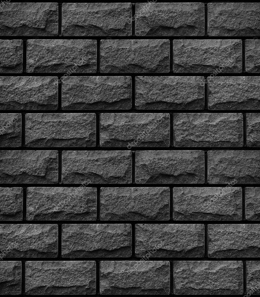 Tekstura Czarne Płytki Dekoracyjne W Postaci Cegły Zdjęcie