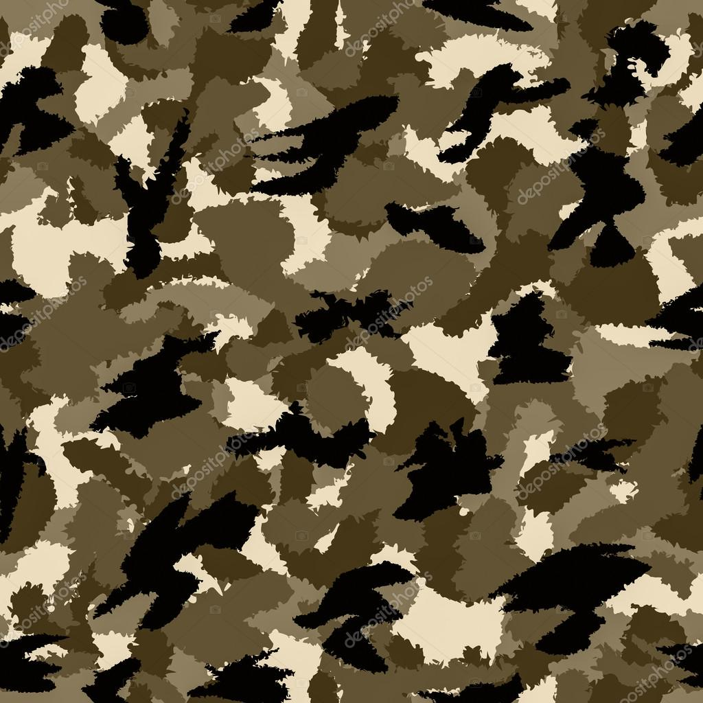 Desert brown war camouflage seamless pattern. Can be used for wallpaper, pattern fills, web page background, surface textures