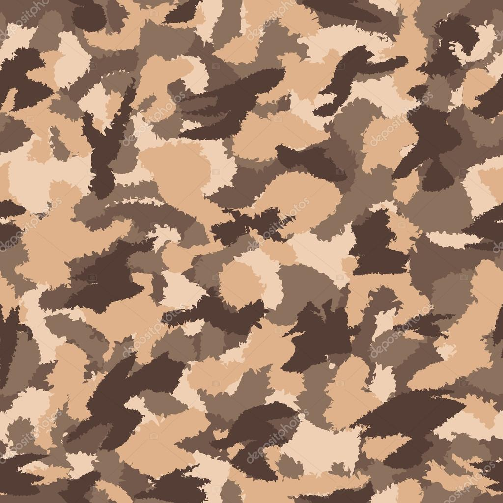 War desert brown safari camouflage seamless vector pattern. Can be used for wallpaper, pattern fills, web page background, surface textures. Vector illustration