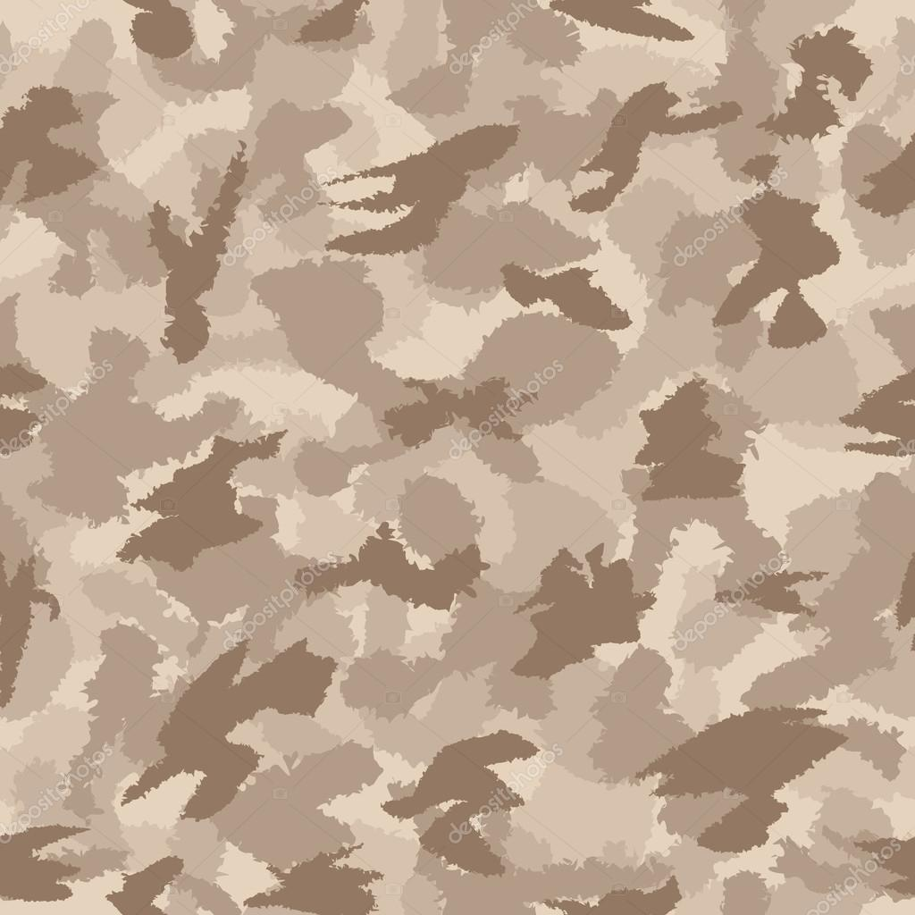 War desert safari camouflage seamless vector pattern. Can be used for wallpaper, pattern fills, web page background, surface textures. Vector illustration