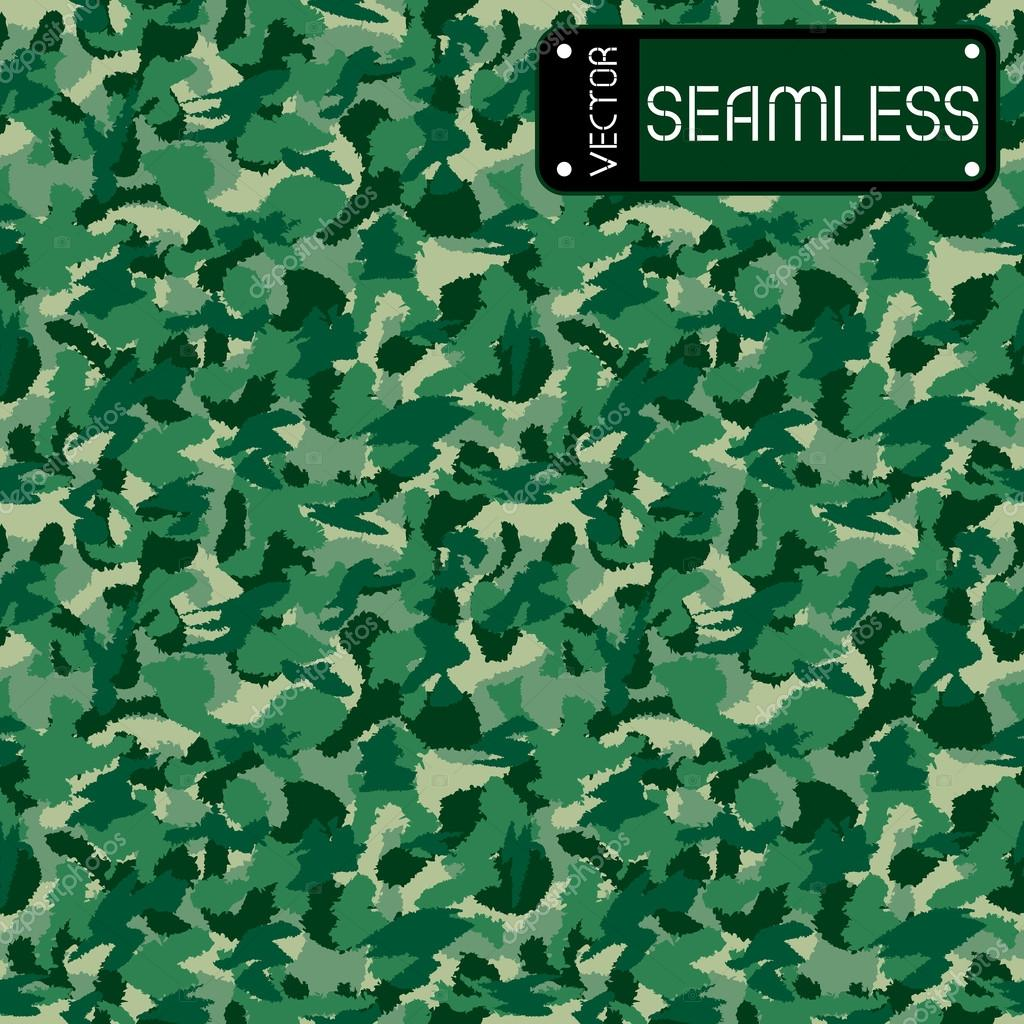 War green forest camouflage seamless vector pattern. Can be used for wallpaper, pattern fills, web page background, surface textures. Vector illustration
