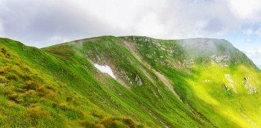 Picturesque Carpathian mountains, nature landscape in summer, Ukraine.