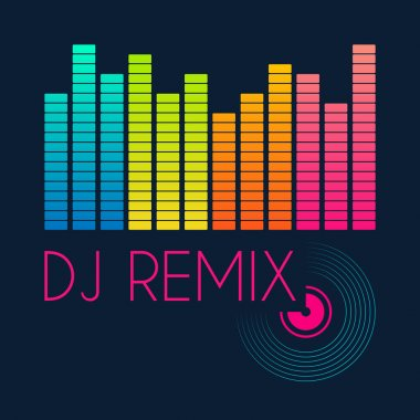 dj remix typography, t-shirt graphics. vector illustration