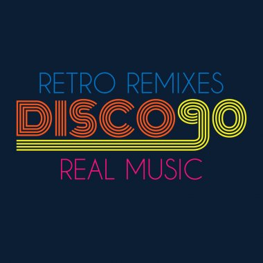 disco 90 typography, t-shirt graphics. vector illustration