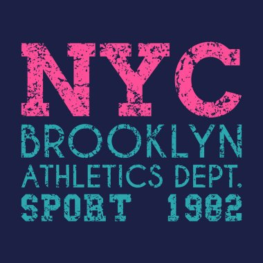 New York typography, t-shirt graphics. vector illustration