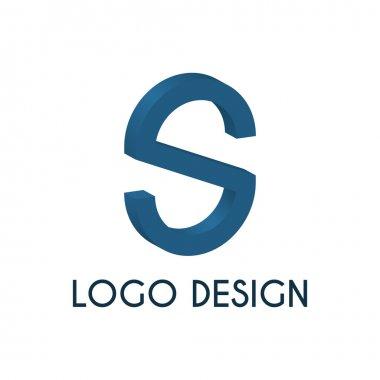 Stock logo letter s. 3d illustration